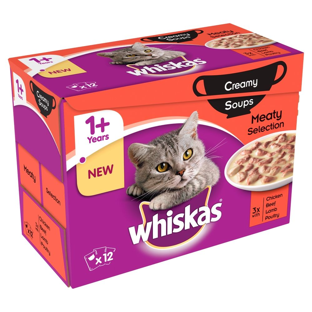 Classic Selection Creamy Soup Whiskas Wet Cat Food