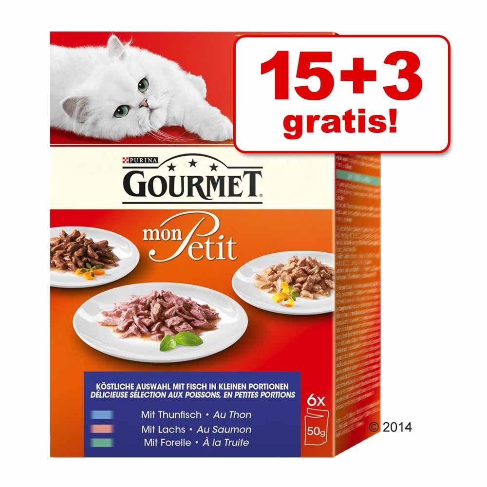 15 + 3 gratis! Gourmet Mon Petit, 18 x 50 g - Drób