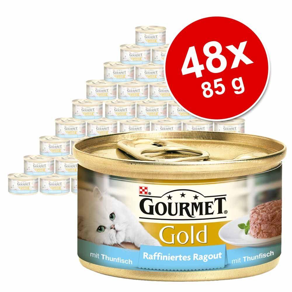 Gourmet Gold Ragout, 48 x 85 g - Wołowina