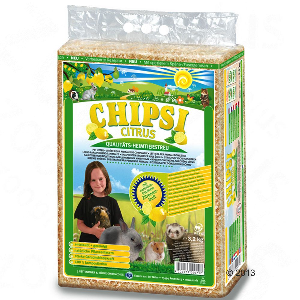 Image of Lettiera Chipsi Citrus - 2 x 3,2 kg - prezzo top!