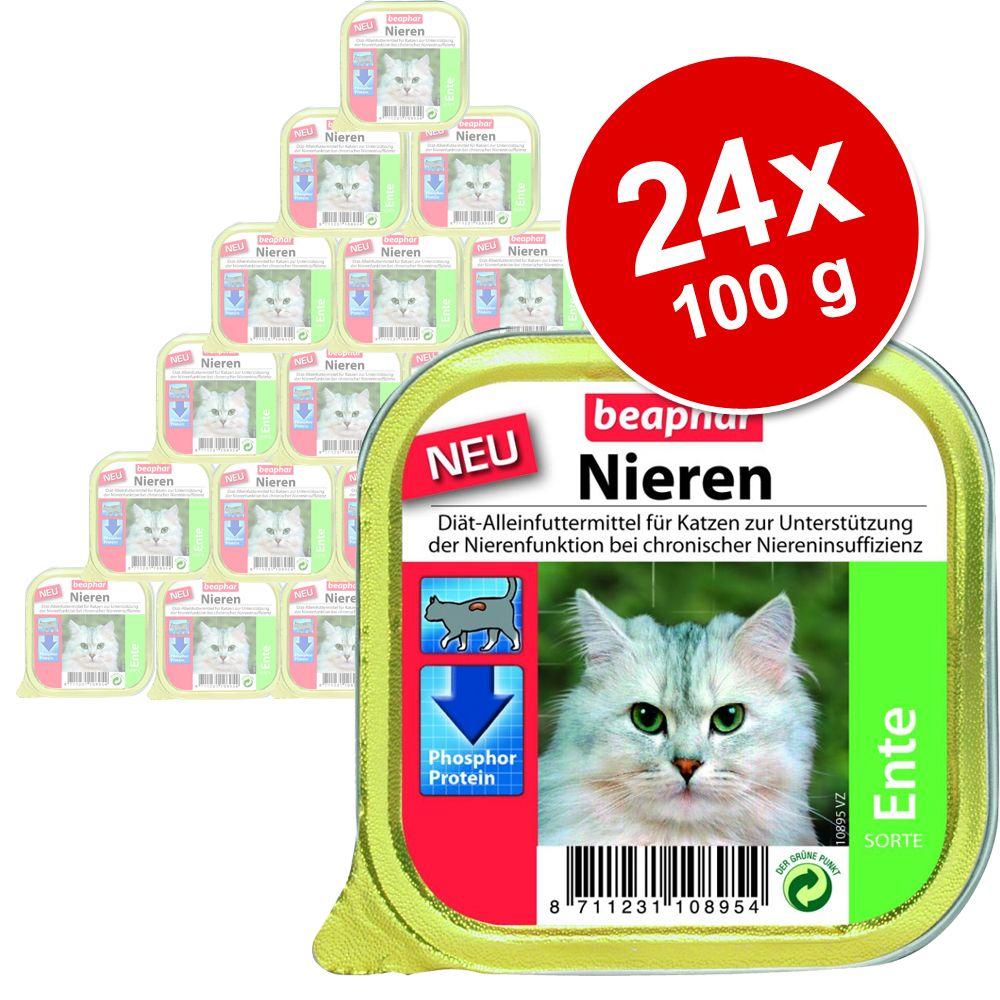 Sparpaket beaphar Nieren-Diät 24 x 100 g - Ente