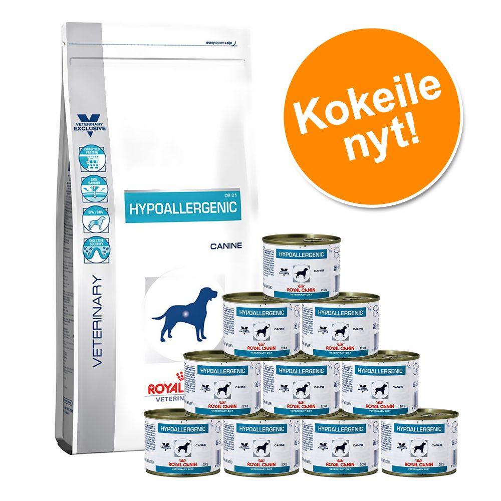 Yhteispakkaus: Royal Canin Veterinary Diet – Urinary S/O LP 18 (14 kg) + märkäruoka 12 x 410 g