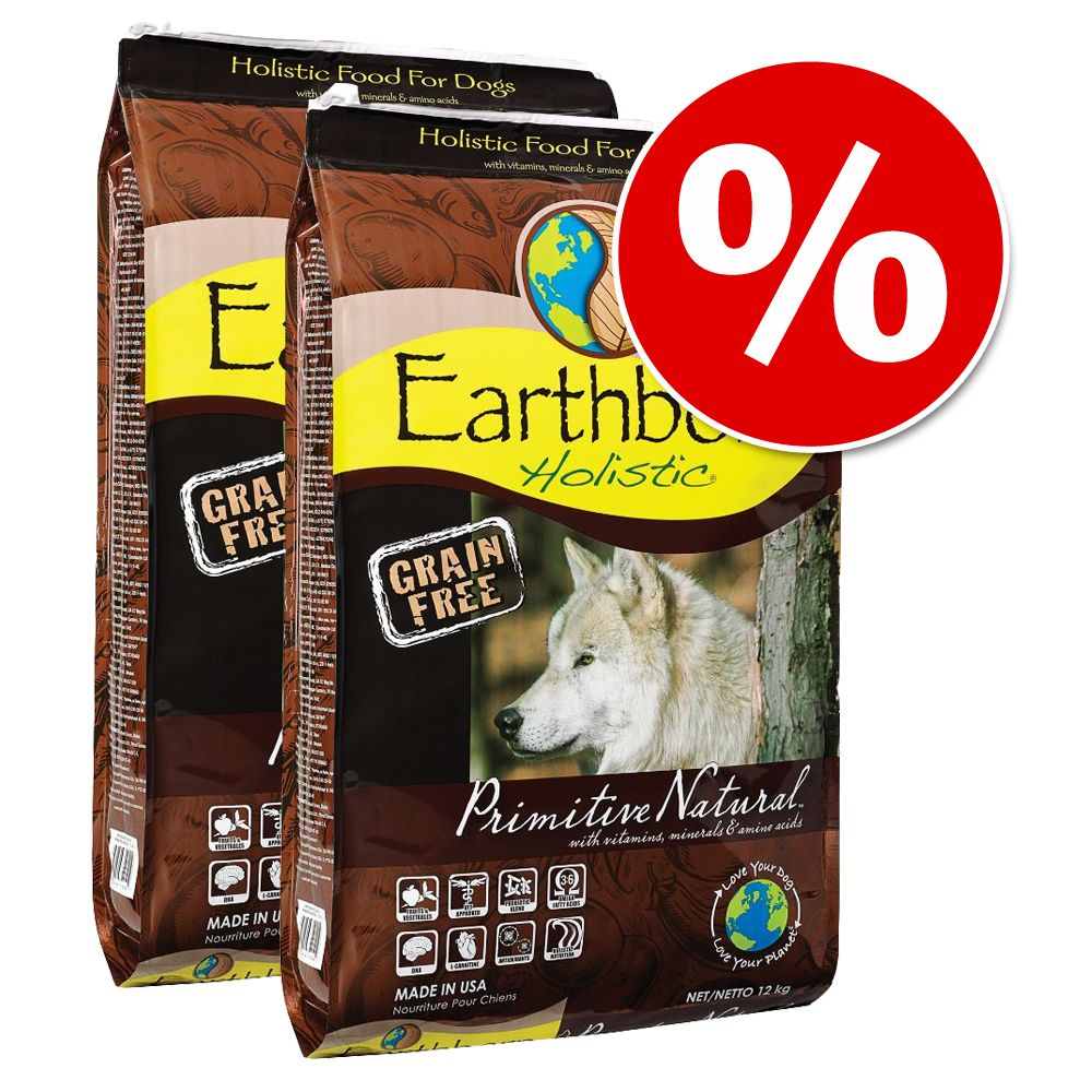 Dwupak Earthborn Holistic, 2 x 12 kg - Large Breed