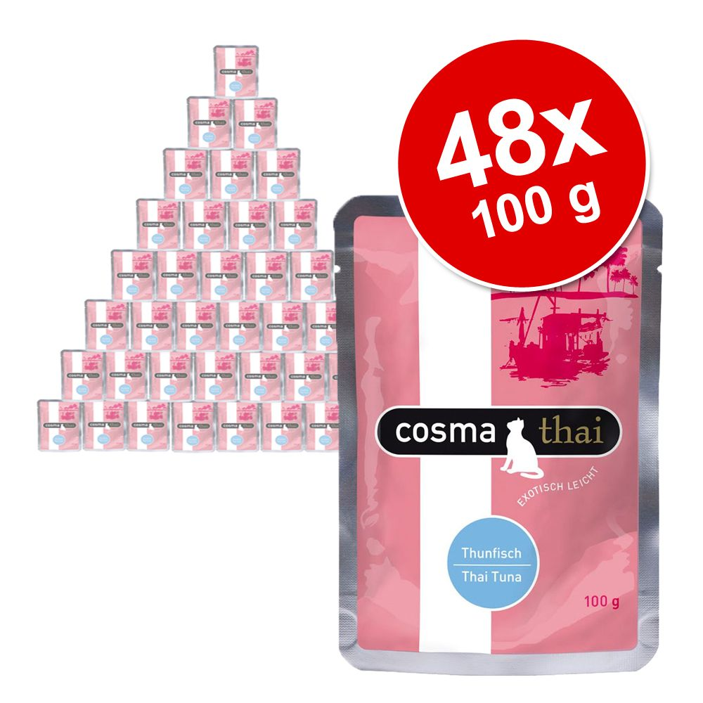 Foto Cosma Thai in busta 48 x 100 g - Mix Tonno e Tonno con Polpa di granchio