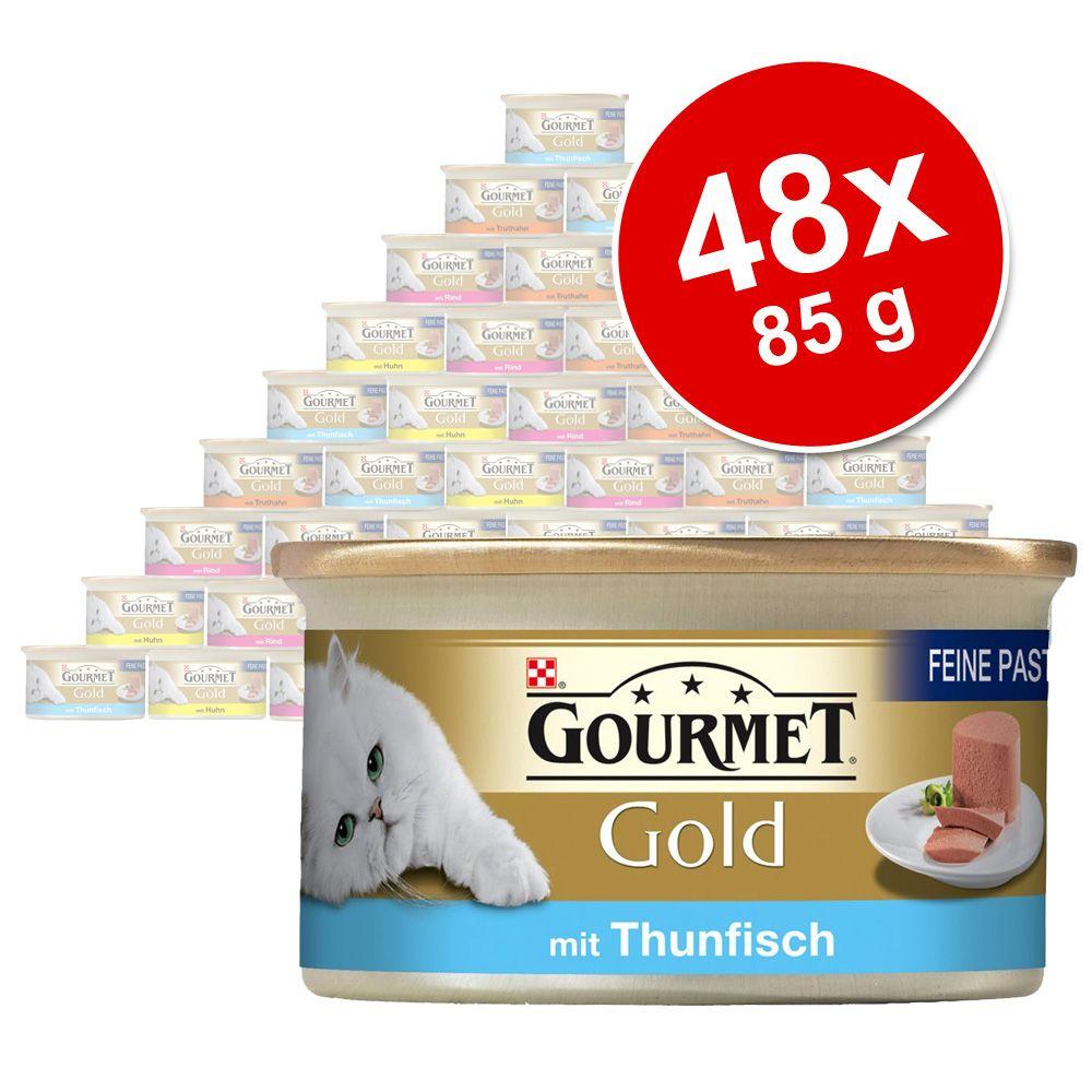 Mieszany megapakiet Gourmet Gold Mus, 48 x 85 g - Pakiet mięsno-rybny