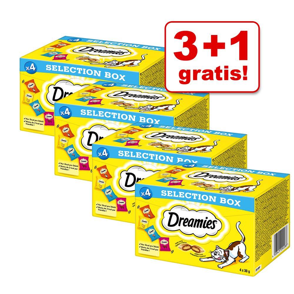 3 + 1 gratis! 4 x Dreamies Selection Snackbox -...