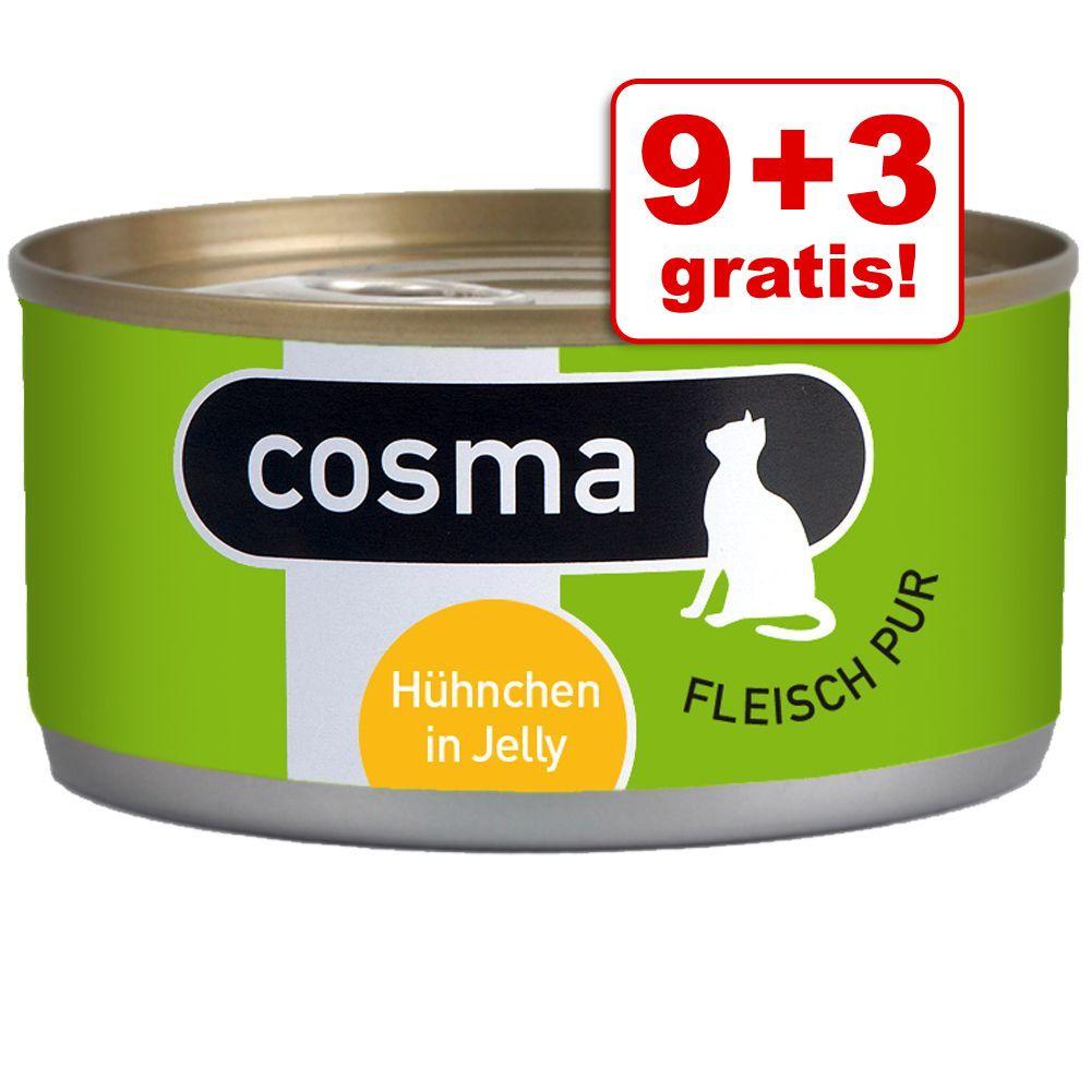 9 + 3 gratis! Cosma Original, 12 x 170 g - Pakiet mieszany