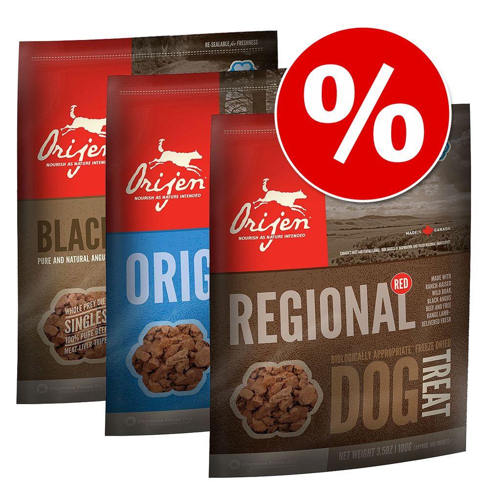 Pakiet mieszany Orijen Snacks przysmaki dla psa - Pakiet 3 (3 smaki po 100 g)