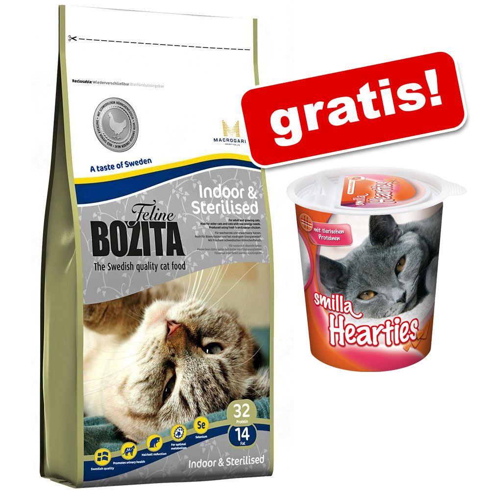 4 kg Bozita Feline + Przysmak odkłaczający Smilla Hearties, 125 g gratis! - Outdoor & Active