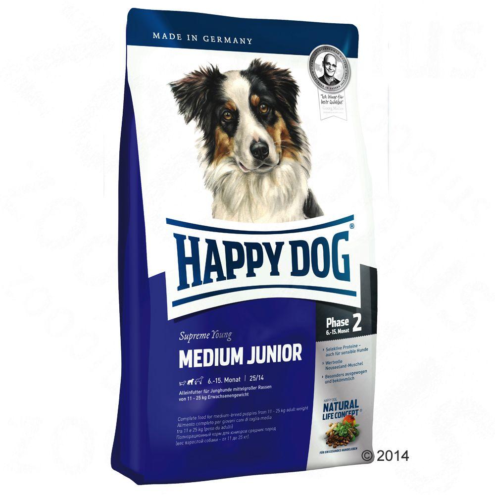 Foto Happy Dog Supreme Young Medium Junior (Fase 2) - 2 x 10 kg - prezzo top! Happy Dog Supreme Fit & Well Happy Dog Supreme Junior
