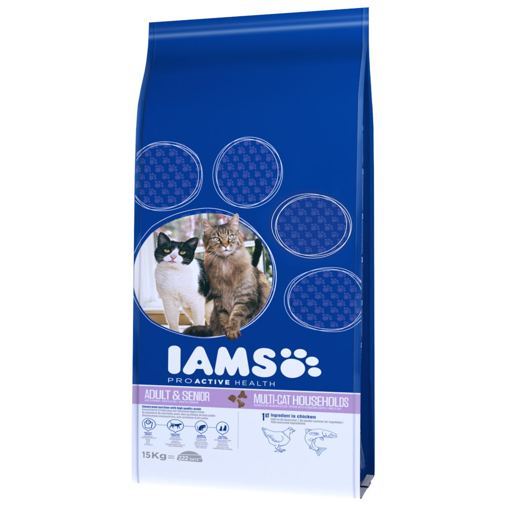 IAMS Pro Active Health Adult Multi-Cat Household - Ekonomipack: 2 x 15 kg