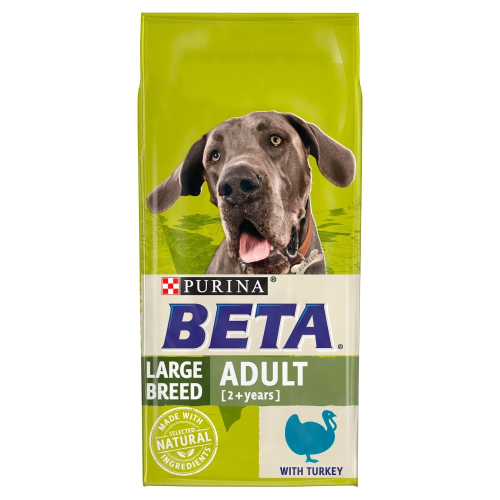 14kg BETA Adult Large Breed Turkey Dry Dog Food
