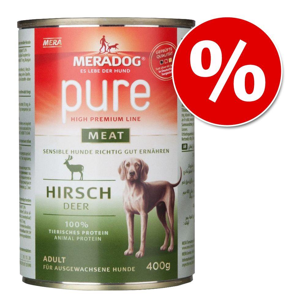 Korzystny pakiet Mera Dog Pure Meat, 12 x 400 g w super cenie! - Pakiet mieszany