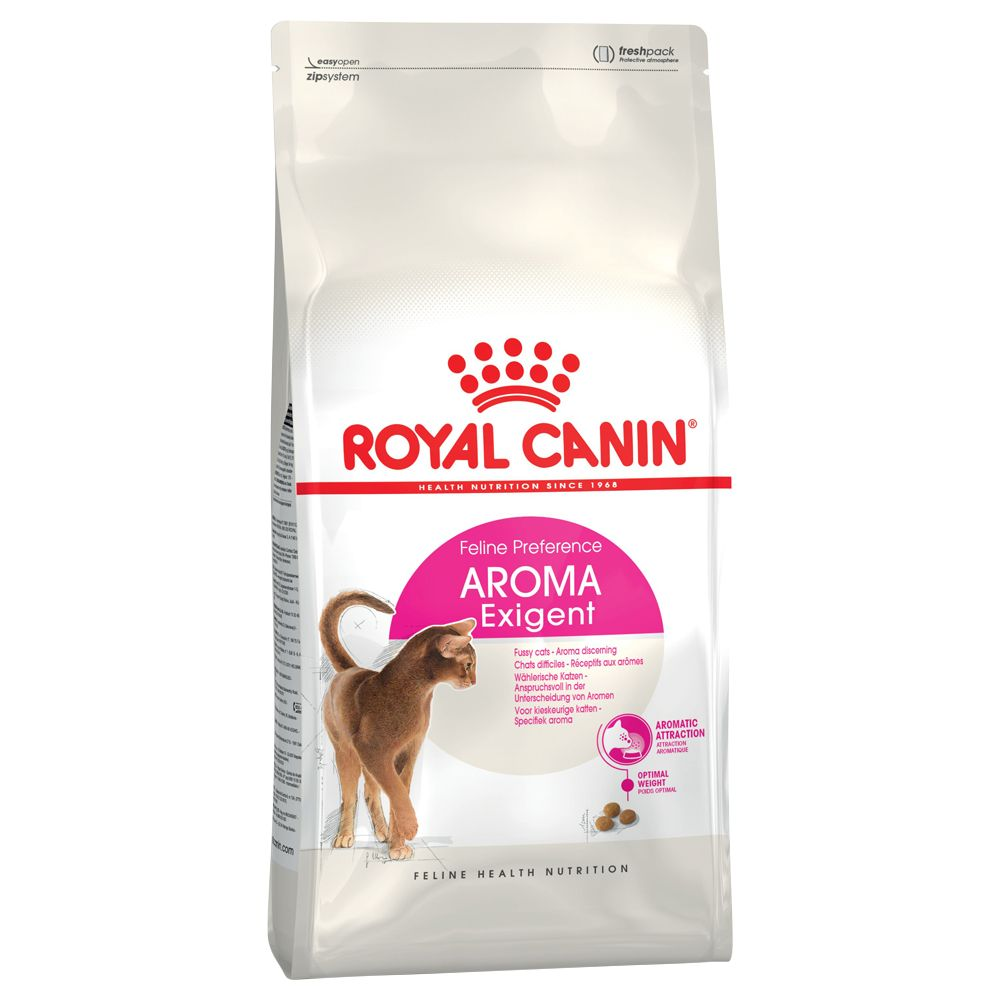 For picky cats, which primarily select their food via smell, there's Royal Canin 33 Aromatic cat food with a particularly distinct, natural smell to it. Even for c...