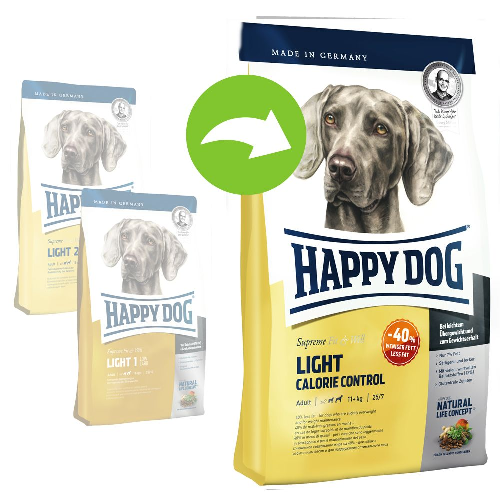 Happy Dog Supreme Fit & Well Light Calorie Control - Ekonomipack: 2 x 12,5 kg