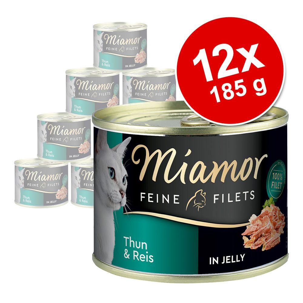 Ekonomipack: Miamor Fine Filets 12 x 185 g - Tonfisk & ris i gelé