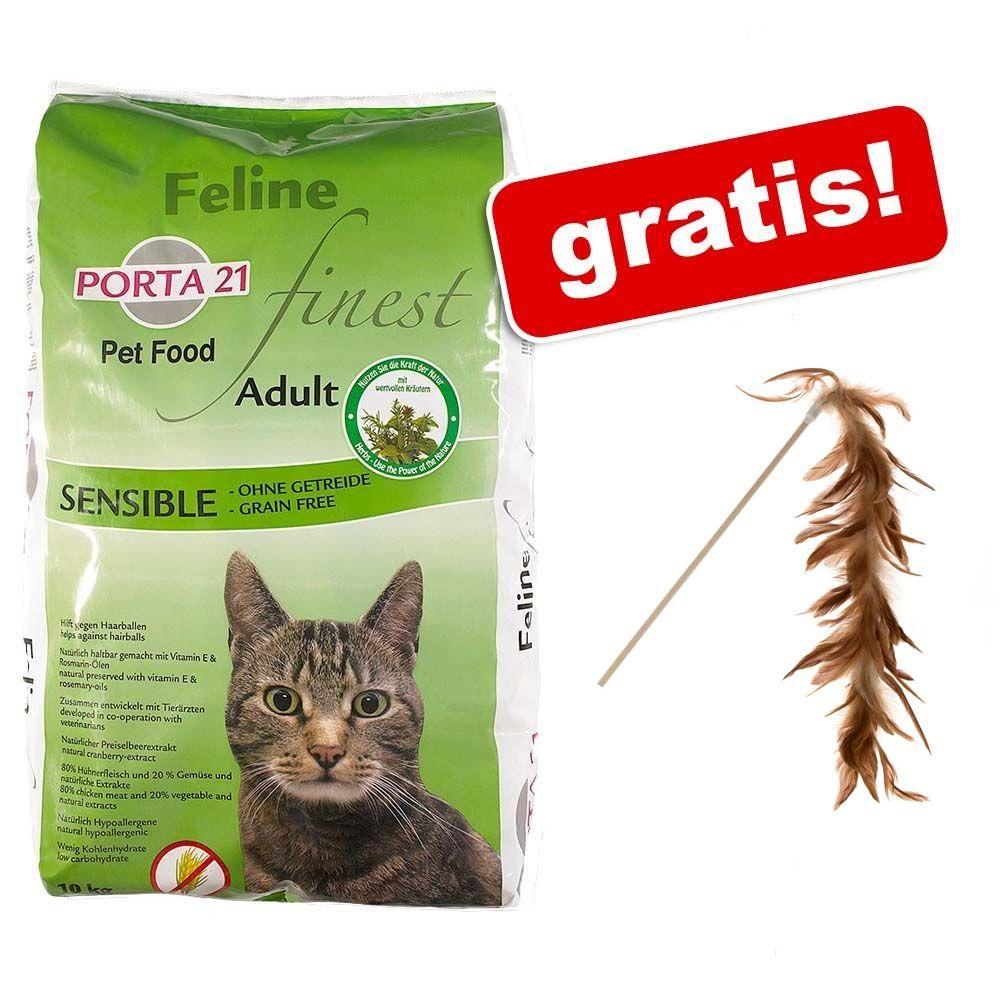 10 kg Porta 21 + Wędka dla kota Natural Paradise gratis! - Feline Finest Sensible, bez zbóż