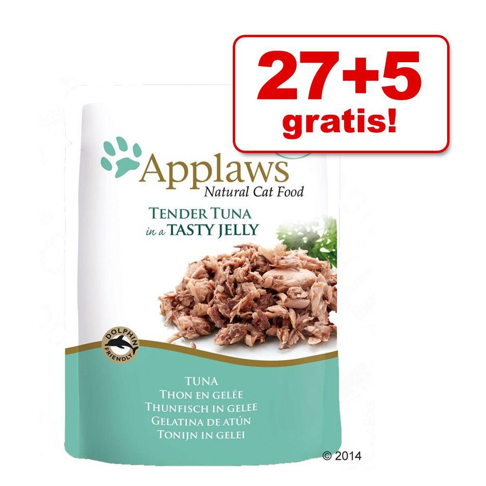 27 + 5 gratis! Applaws w galarecie, 32 x 70 g - Tuńczyk z łososiem