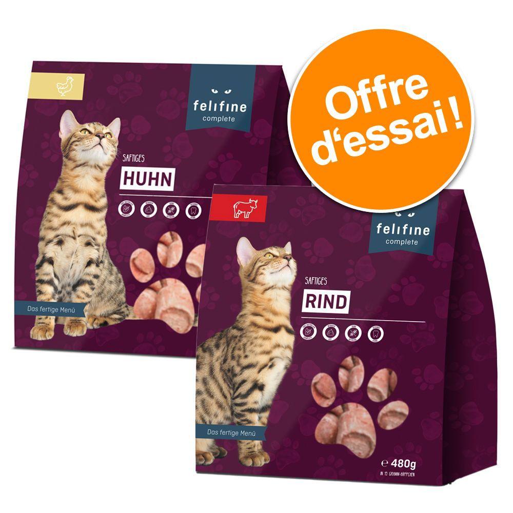 5x480g Felifine Complete Nuggets pack volaille (2 variétés) - pour chat