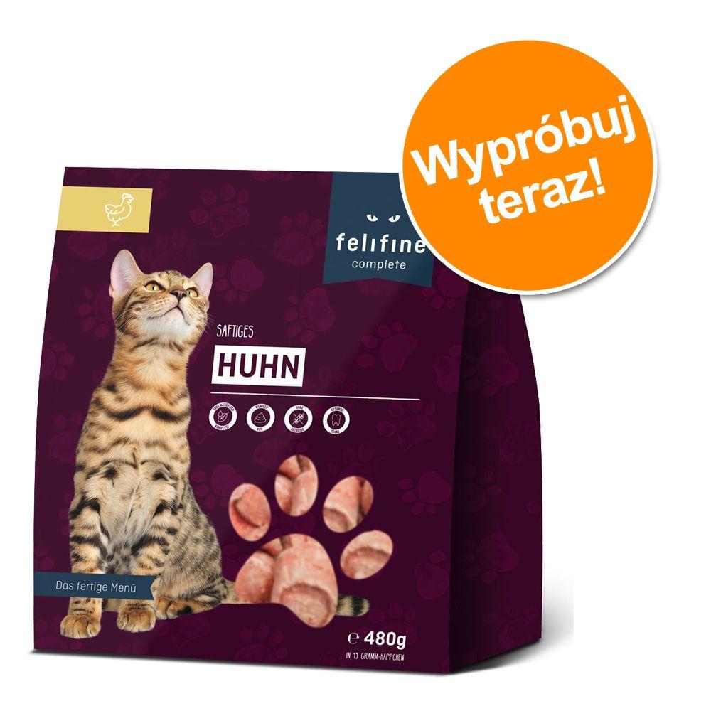 Mieszany pakiet próbny Felifine Complete Nuggets, 5 x 480 g - Drób, mięso i ryba, 4 smaki