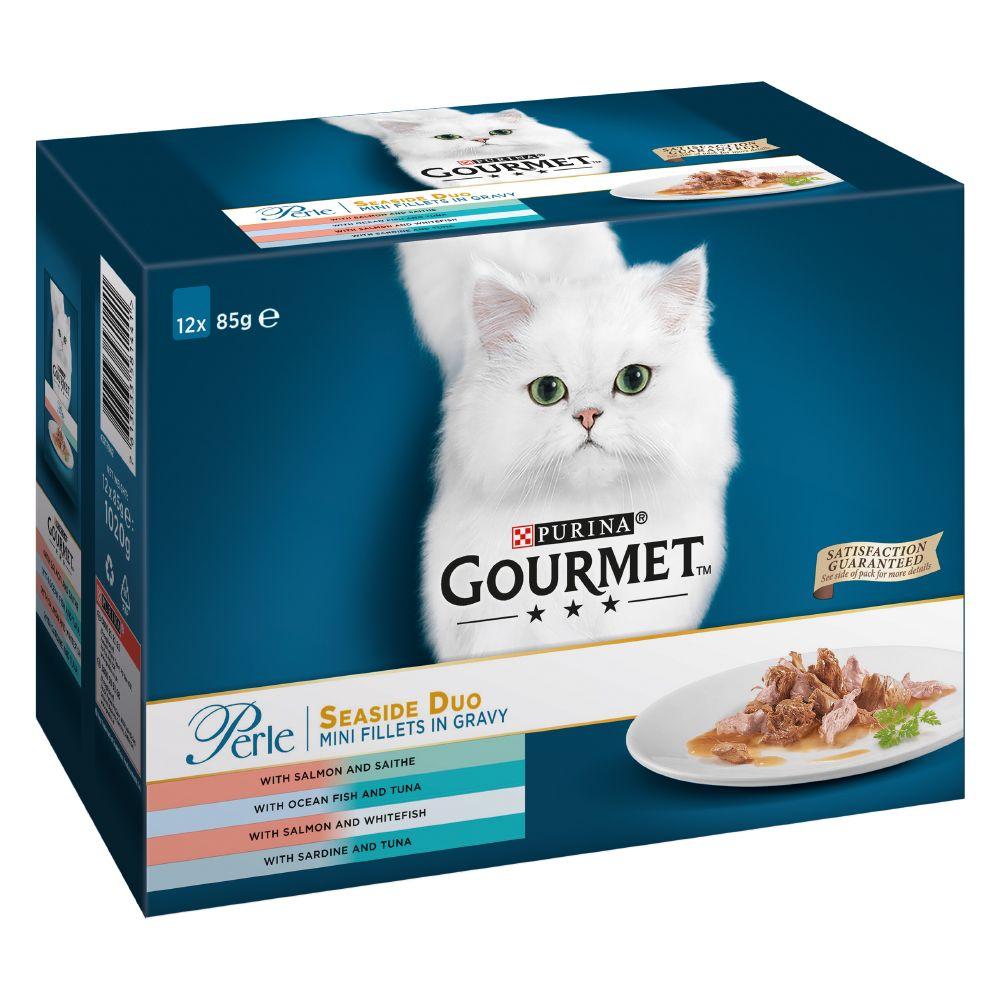 Gourmet Perle 12 x 85 g - Country Medley in gelatina: Anatra, Selvaggina, Trota, Tacchino