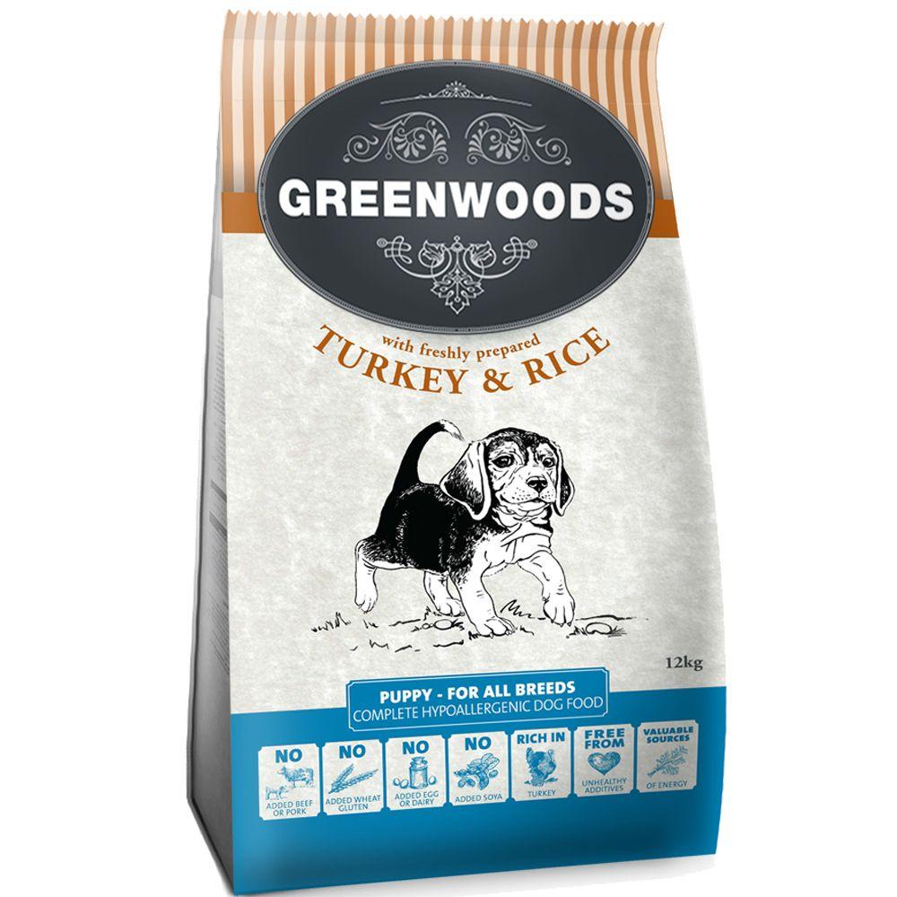 Foto Greenwoods Puppy Tacchino & Riso - 2 x 12 kg - prezzo top! Greenwoods Junior