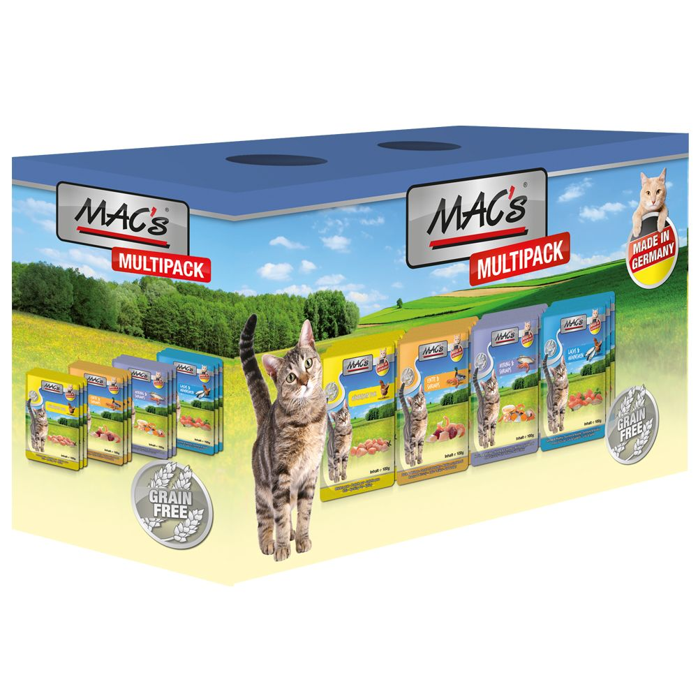 Fish Multipack MAC's Adult Wet Cat Food