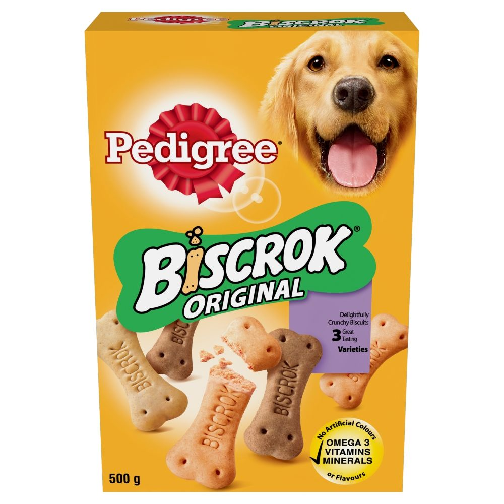 3 x 500g Pedigree Biscrok Dog Biscuits
