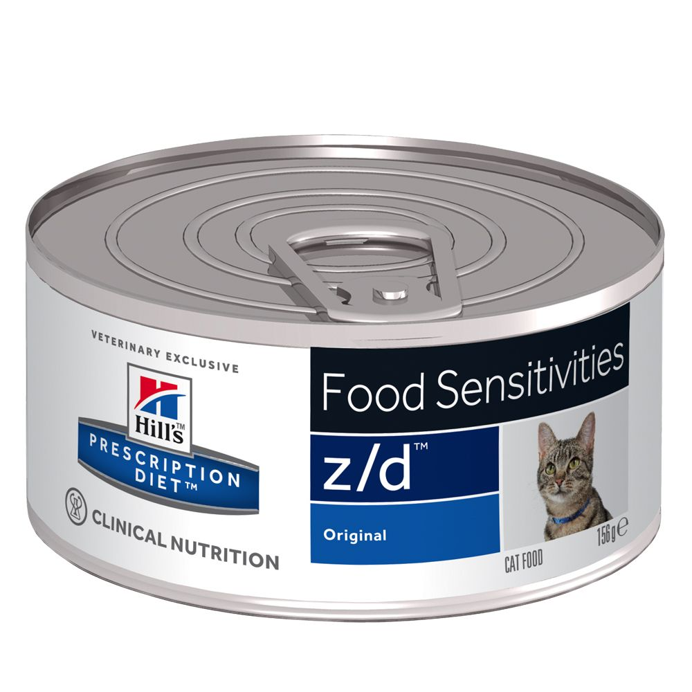 Hill's Prescription Diet Feline - z/d Food Sensitivities Cans - Saver Pack: 24 x 156g