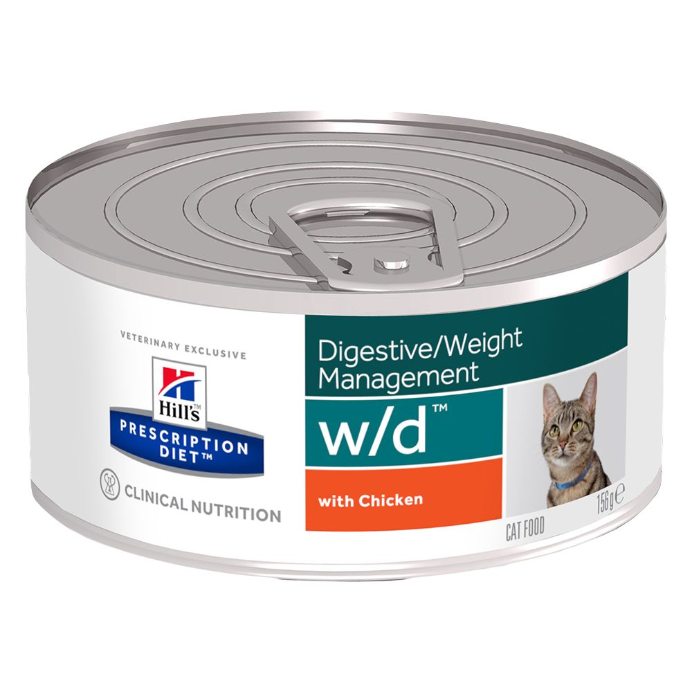 Hill's Prescription Diet w/d Digestive/Weight Management Chicken - 6 x 156 g