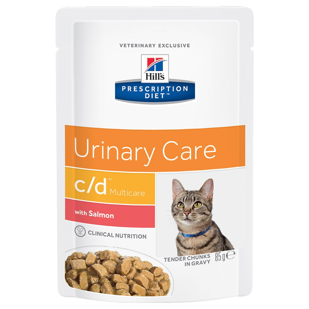 Hill's Prescription Diet Feline c/d Multicare Urinary Care Salmon - Ekonomipack: 48 x 85 g