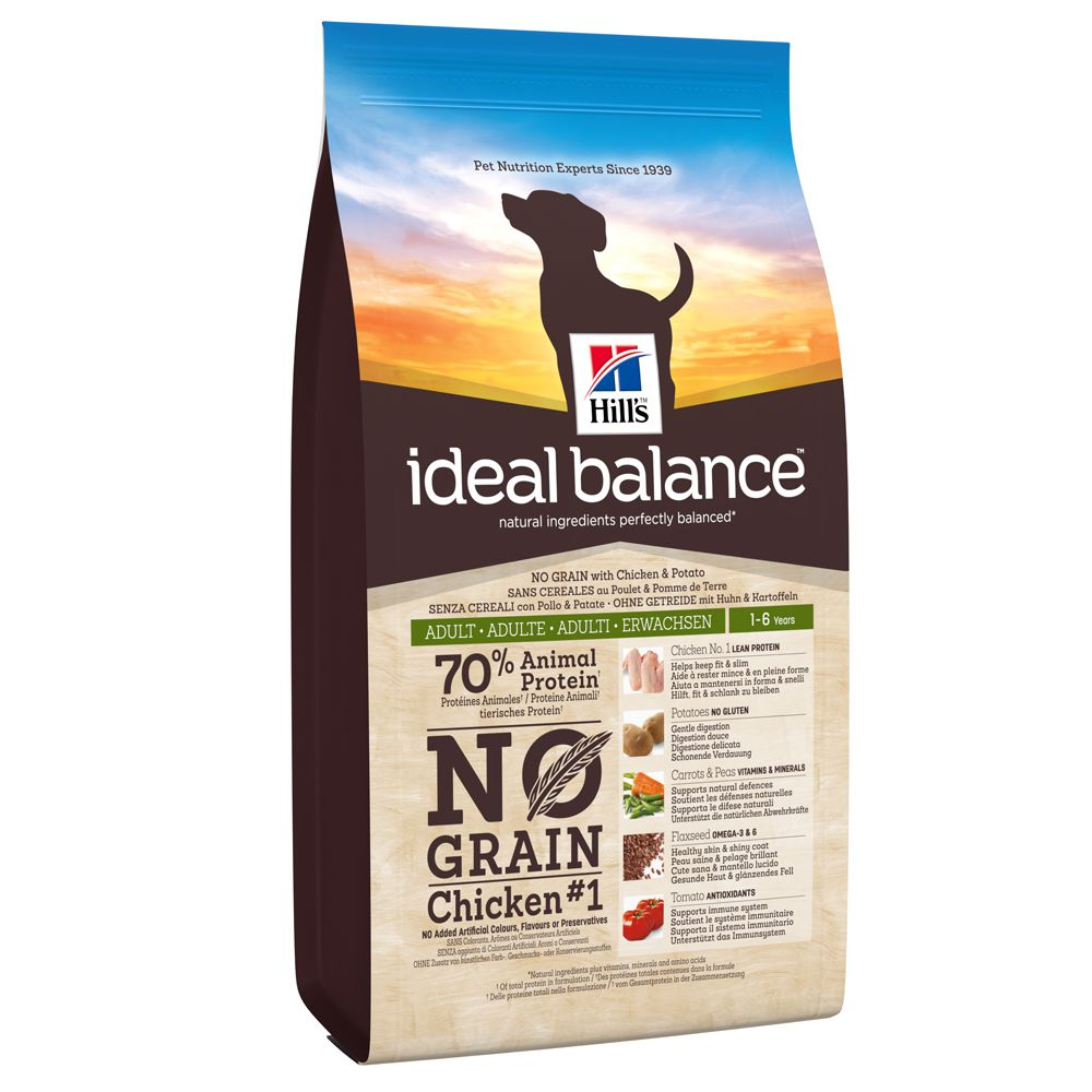 Hill's Canine Ideal Balance Adult No Grain Chicken & Potato - Ekonomipack: 2 x 12 kg