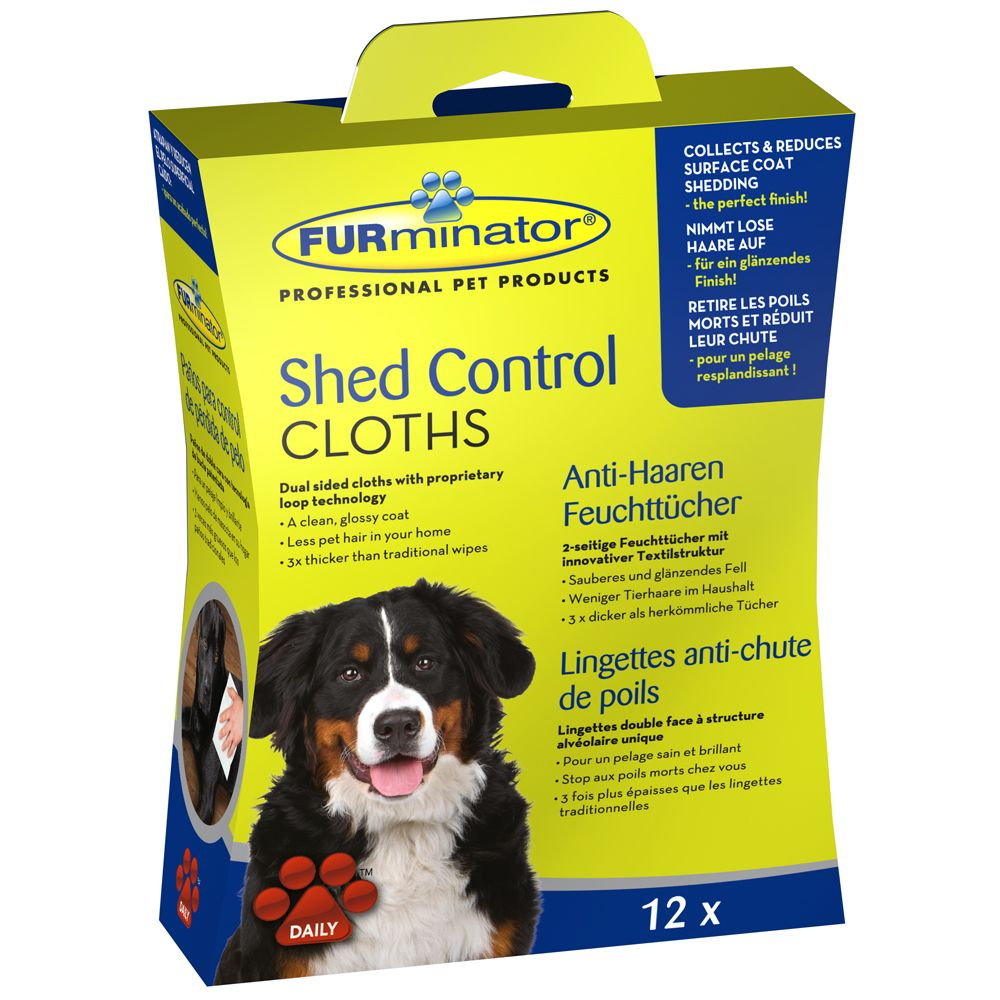 FURminator Dog Shed Control Cloths - 12 Cloths