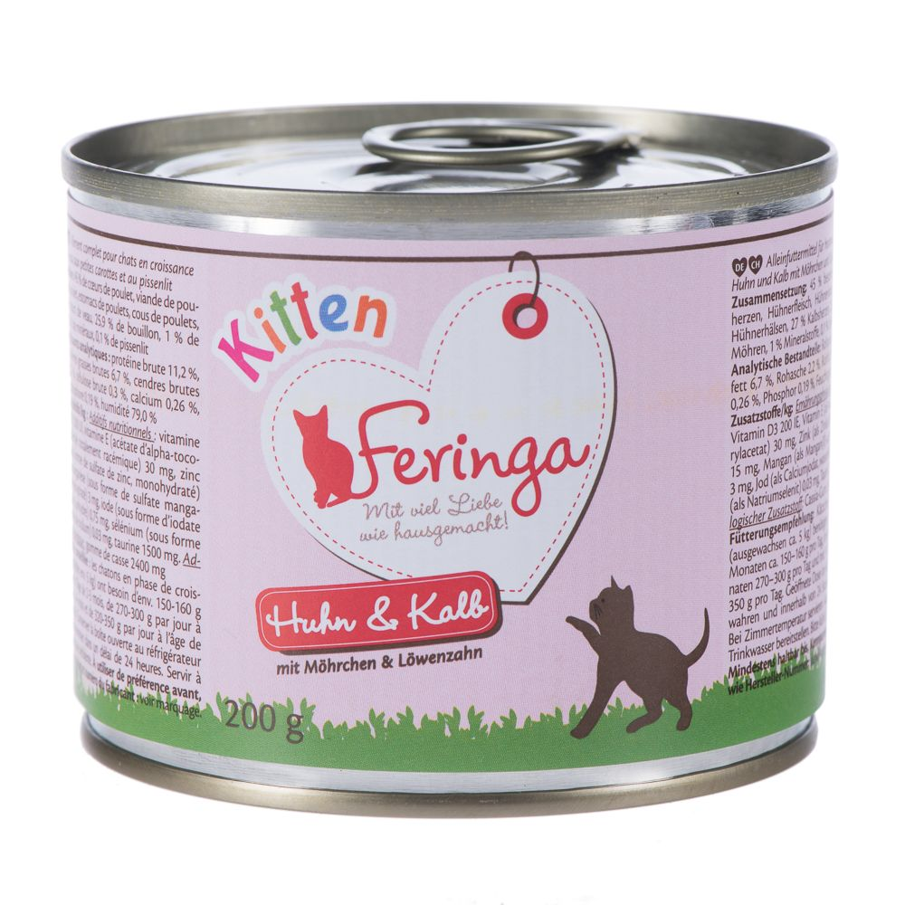 Feringa Menu Kitten 6 x 200g - Chicken & Veal