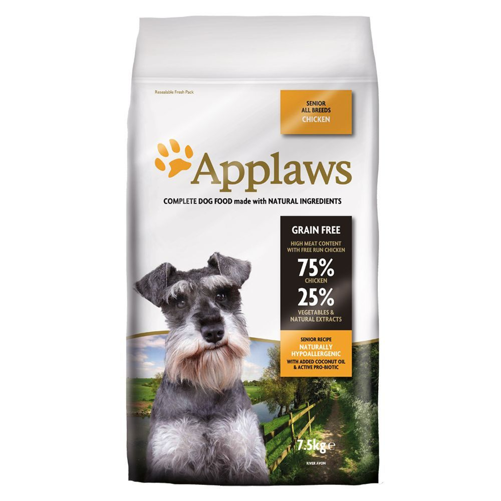 2x7.5kg Senior Chicken Applaws Dry Dog Food