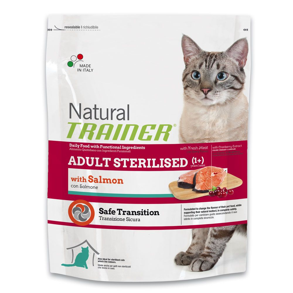 Image of Trainer Natural Sterilised con Salmone - % 2 x 7,5 kg