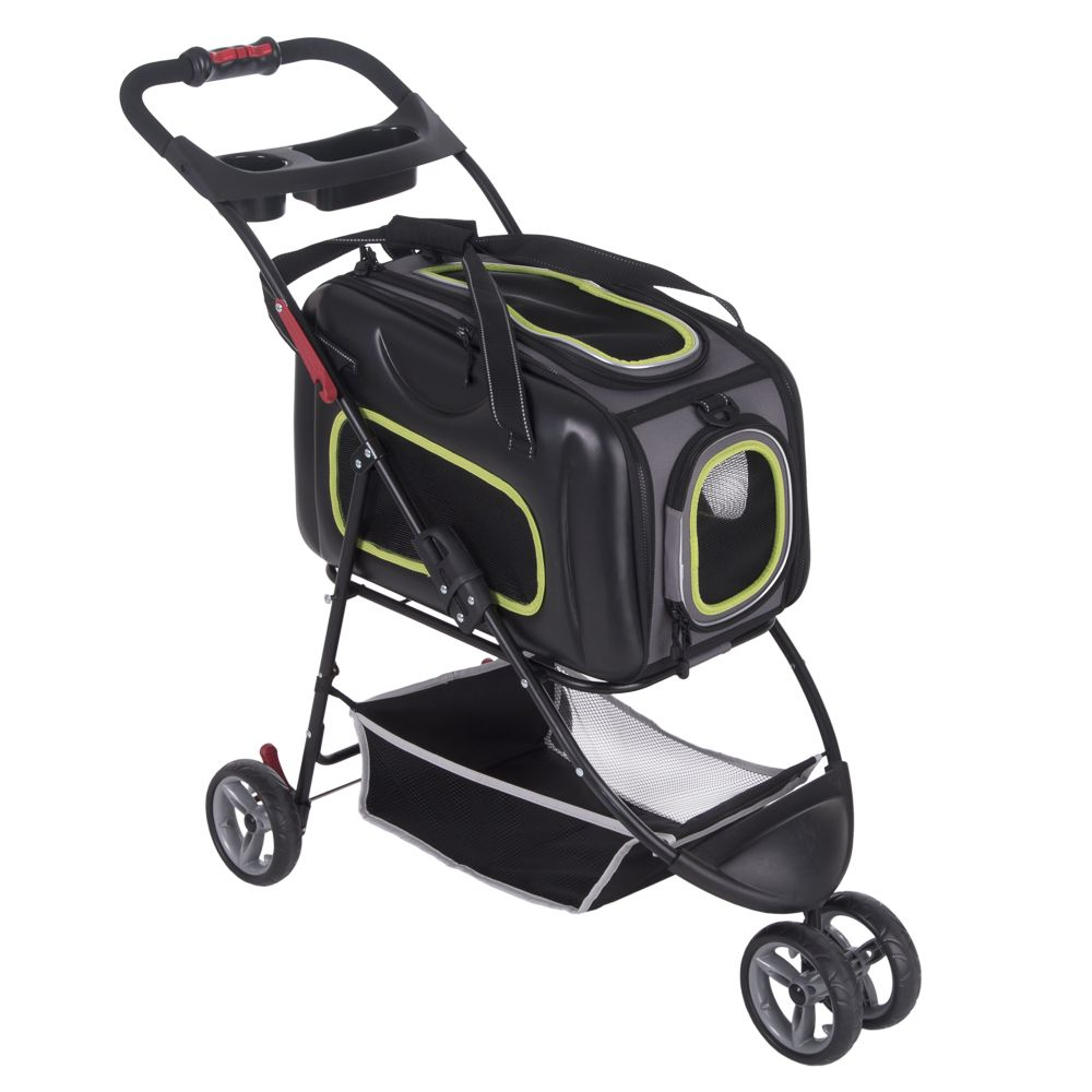 2in1 Pet Stroller - Black - 102 x 47.5 x 92.5 cm (L x W x H)