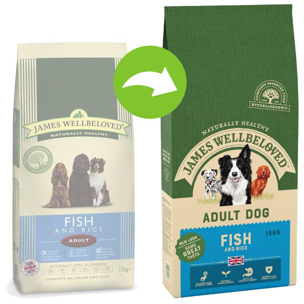 James Wellbeloved Adult Fish & Rice - Ekonomipack: 2 x 15 kg