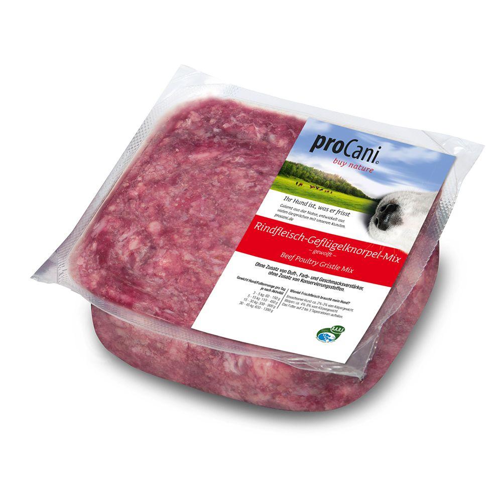 proCani Rindfleisch-Geflügelknorpel - 24 x 1000 g