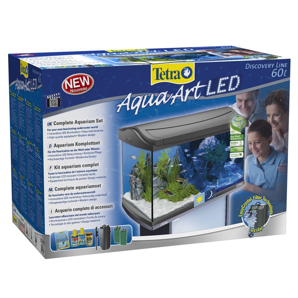 60 L Tetra AquaArt LED Aquarium Komplett-Set anthrazit