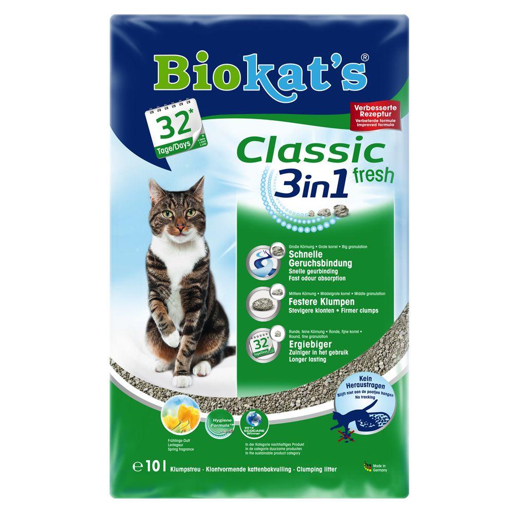 Biokat's Classic Fresh 3in1 Cat Litter - 10l