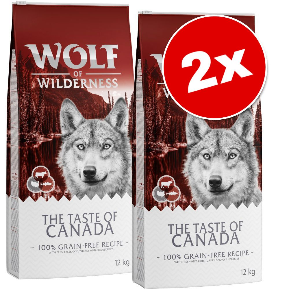 2x12kg The Taste Of Scandinavia Wolf of Wilderness - Croquettes pour chien