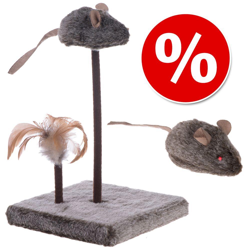 Katzenspielzeug-Set Wild Mouse mit Sound und LED - 2-teiliges Set