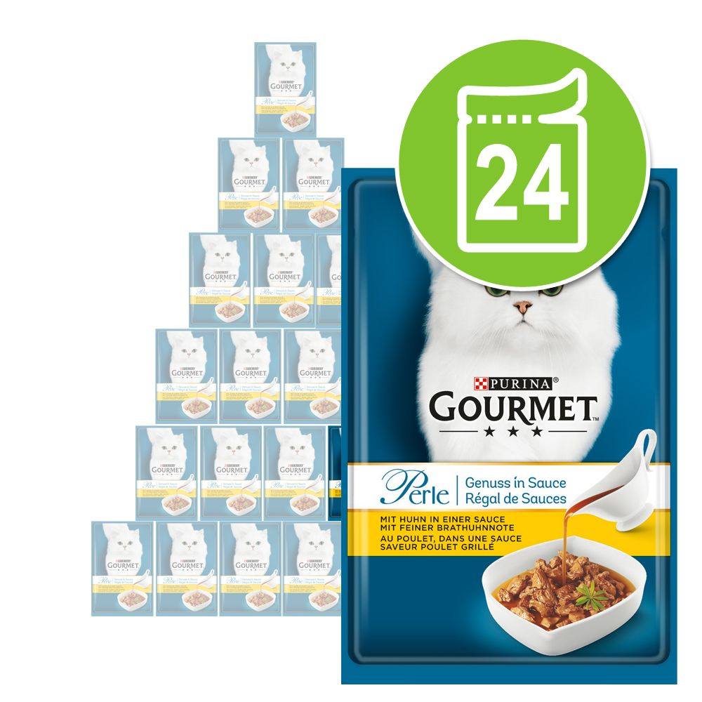 Gourmet Perle Genuss in Soße 24 x 85 g - Lachs in feiner Grilllachs-Soße