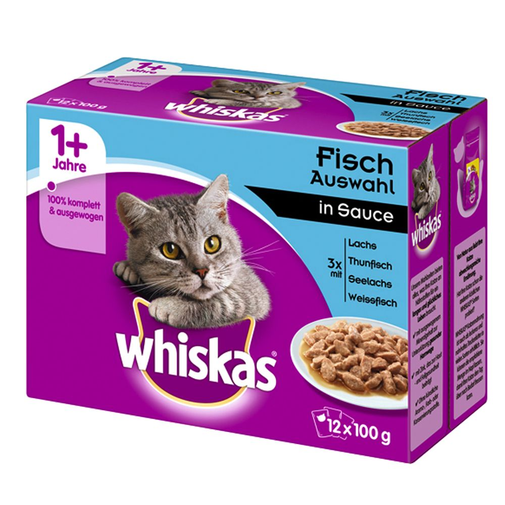 Whiskas 1+ Fish Selection in Gravy - 12 x 100g