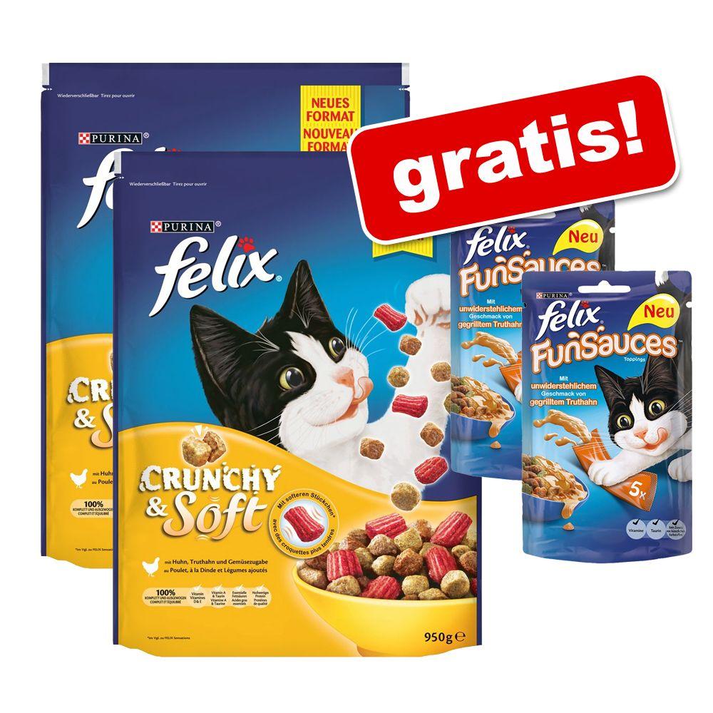 2 x 950g Felix Crunchy & Soft + 10 x 15g Felix ...