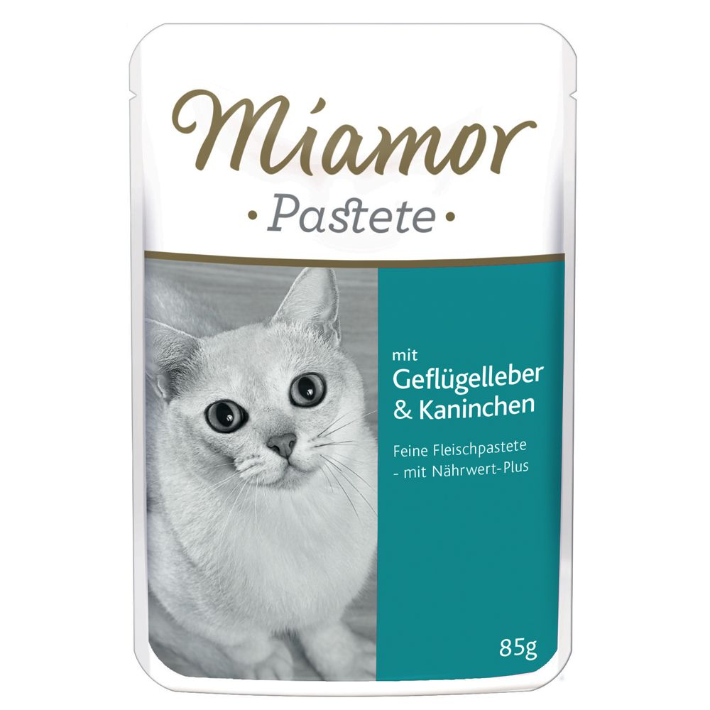 Miamor Pâté Pouches 6 x 85g - with Poultry Liver & Rabbit