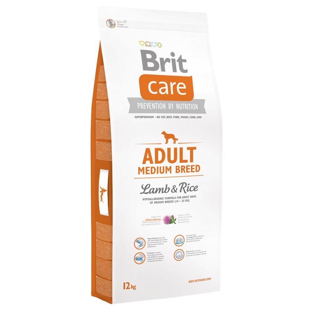 2x12kg Adult Medium Breed agneau riz Brit Care - Croquettes pour Chien