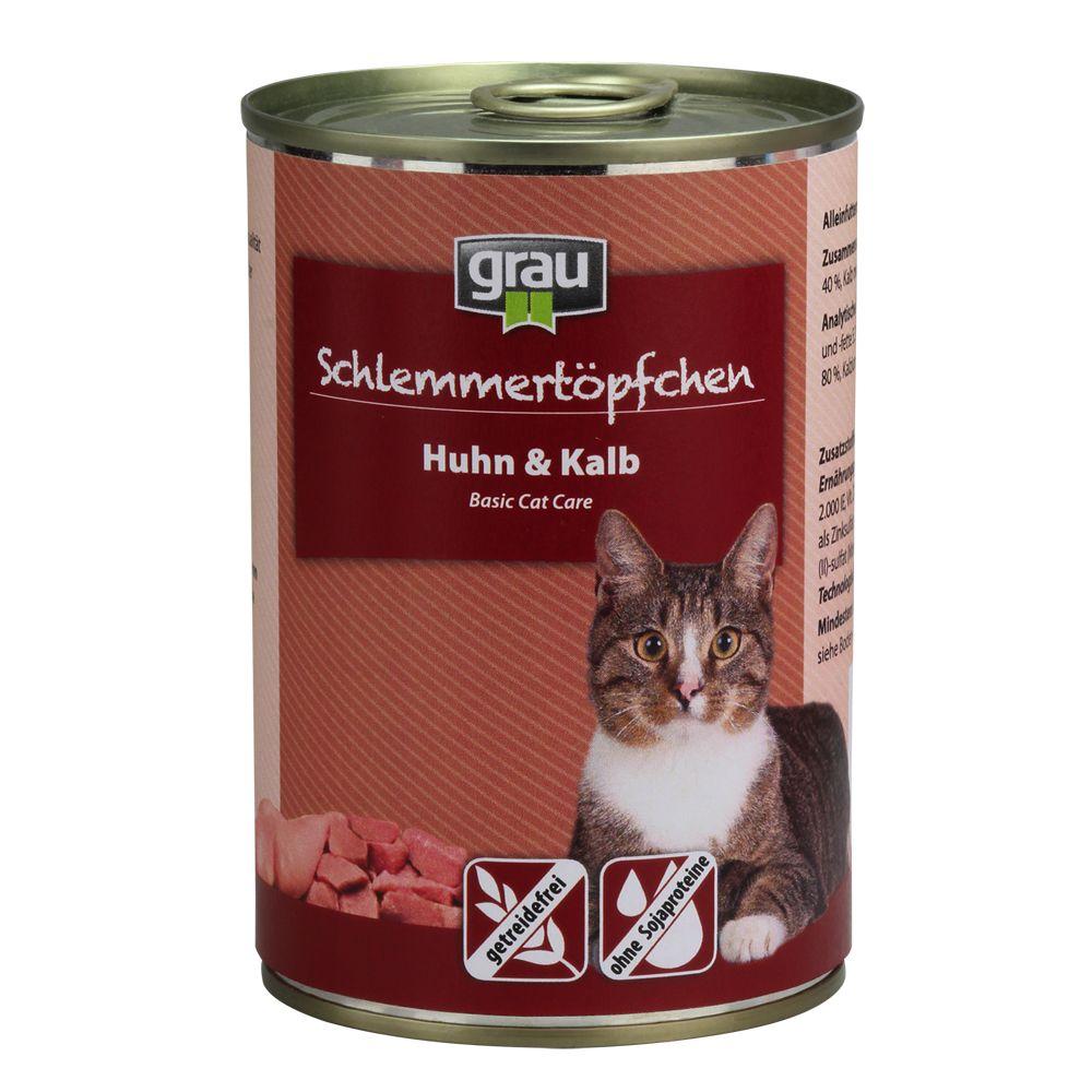 Grau Gourmet spannmålsfritt 6 x 400 g - Kanin, nötkött & anka