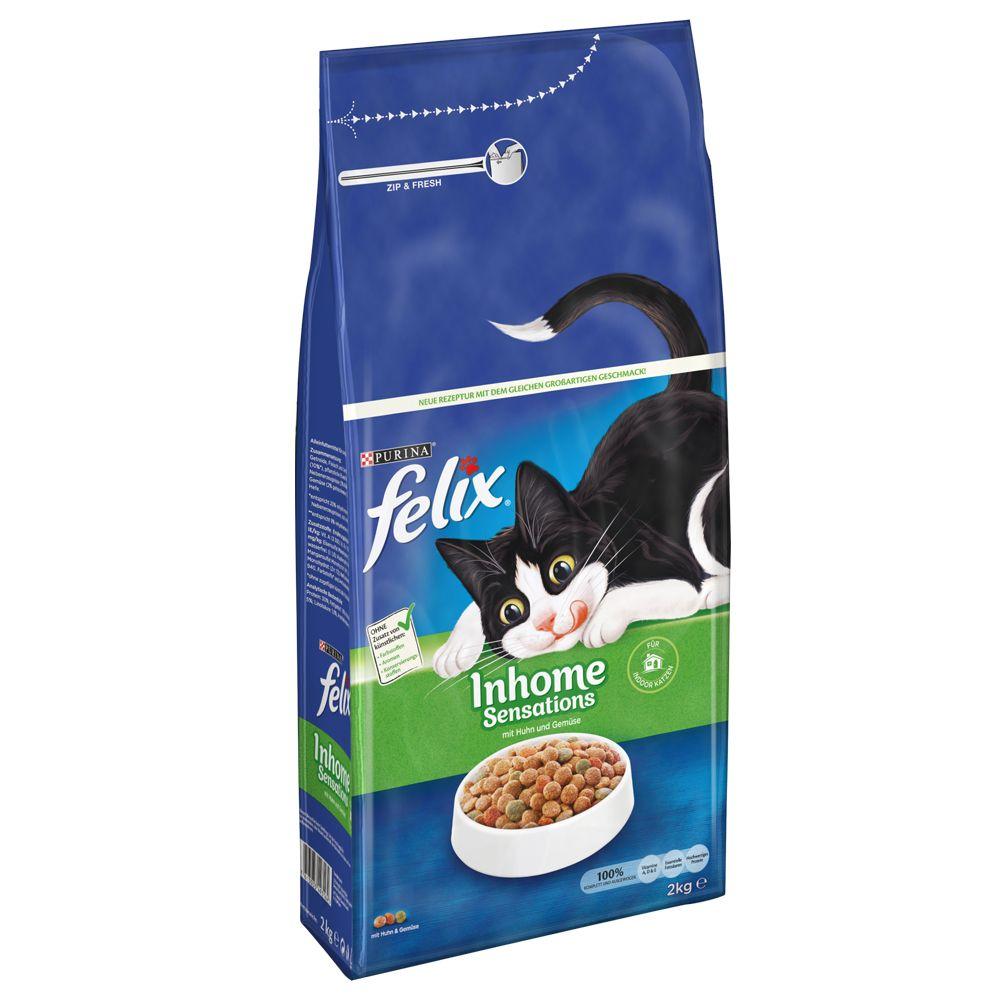 INOpets.com Anything for Pets Parents & Their Pets Felix Indoor Sensations Dry Cat Food - 2kg